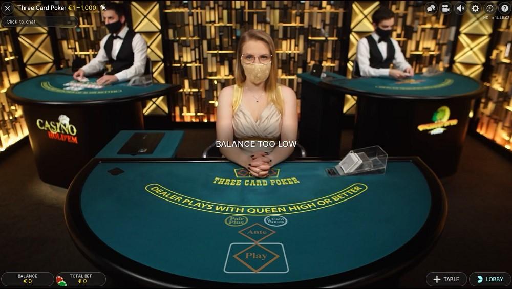 Dingo Casino Live Poker