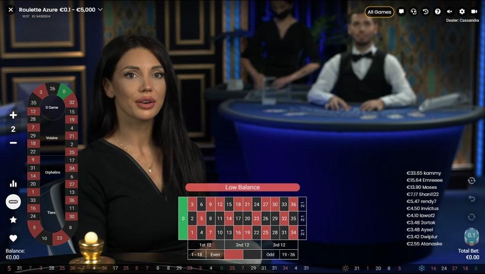Dingo Casino Live Roulette