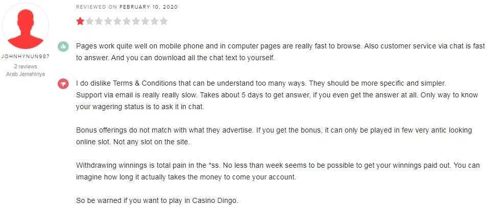 Dingo Casino Player Review 2