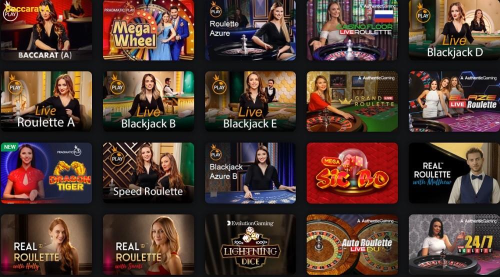 Drift Casino Live Casino Games
