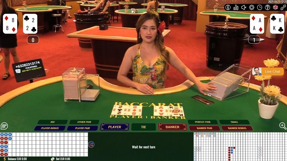 Enzo Casino Live Baccarat