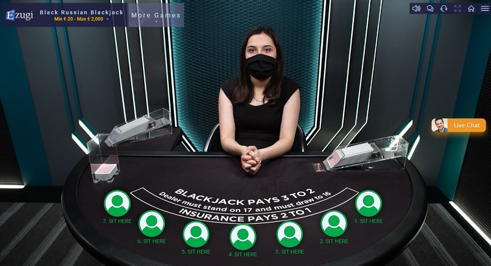 Enzo Casino Live Blackjack