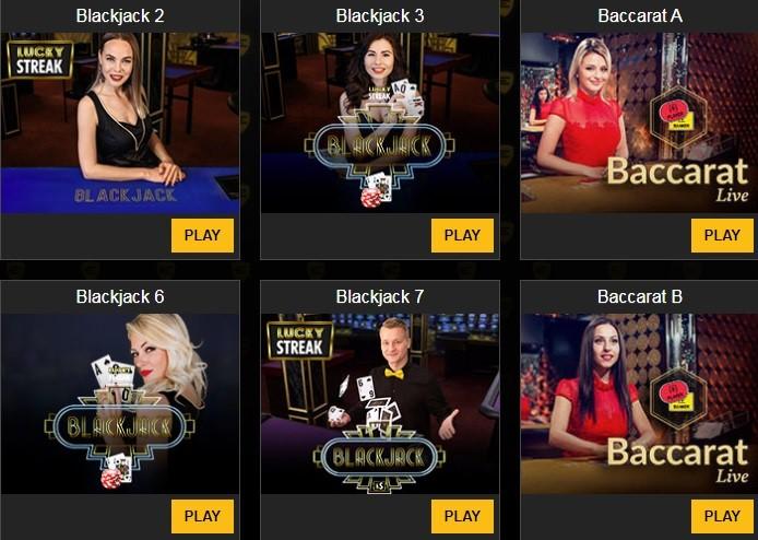 Enzo Casino Live Casino Games