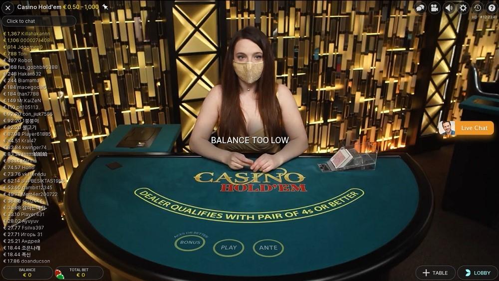 Enzo Casino Live Poker