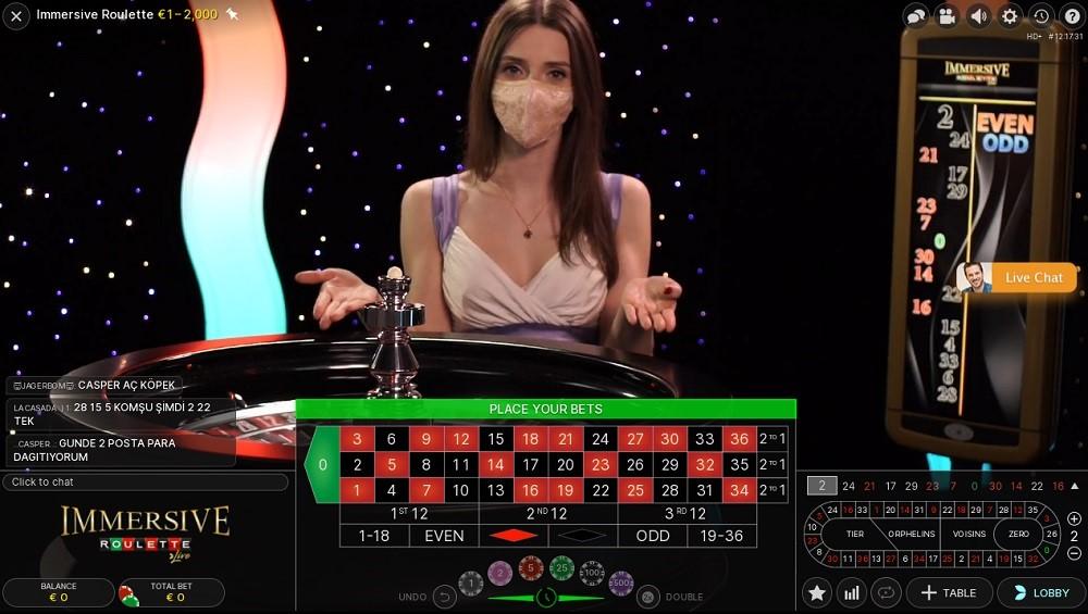 Enzo Casino Live Roulette