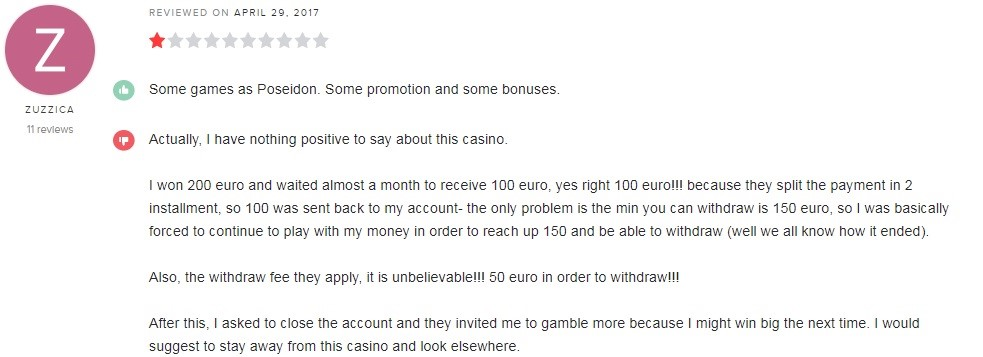 Golden Lion Casino Player Review 3