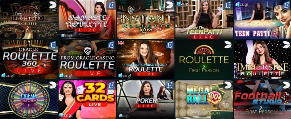 Goodwin Casino Live Casino Games