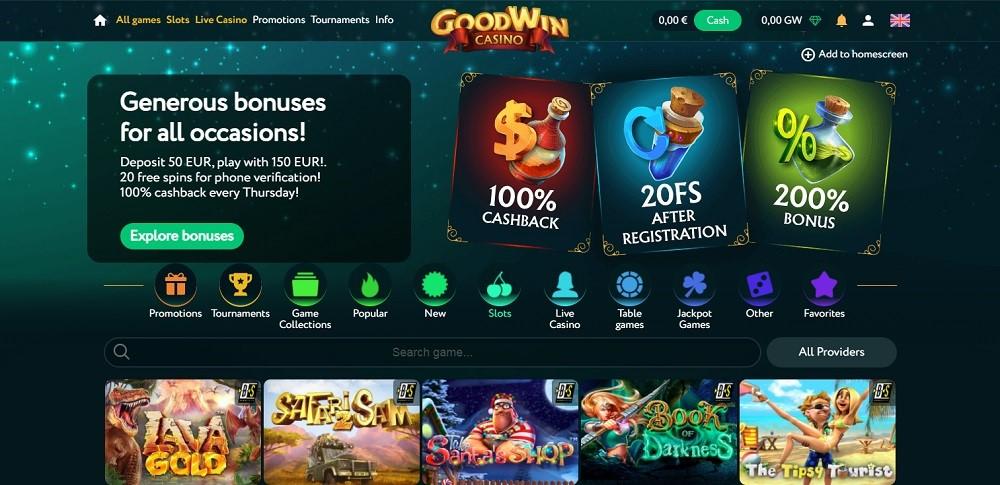 Goodwin Casino Members Area