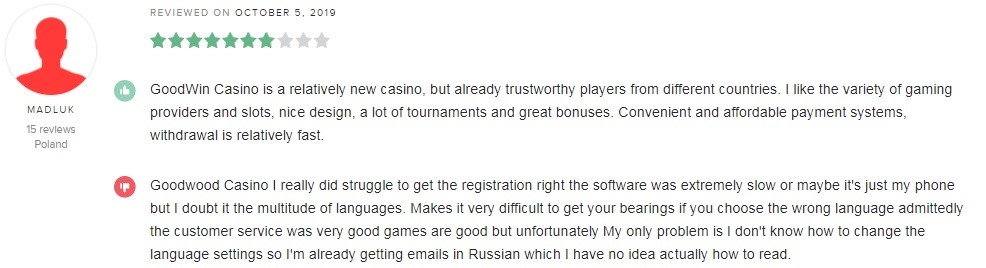 Goodwin Casino Player Review 2