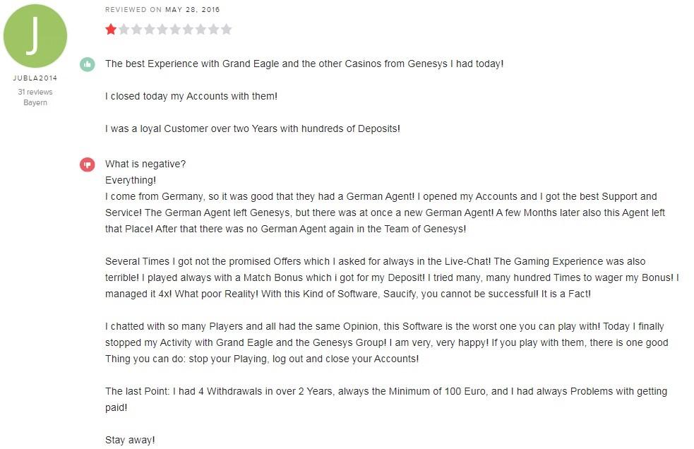Grand Eagle Casino Player Review 4