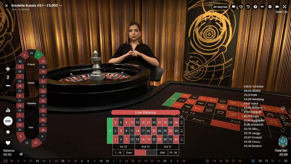 Hello Casino Live Roulette