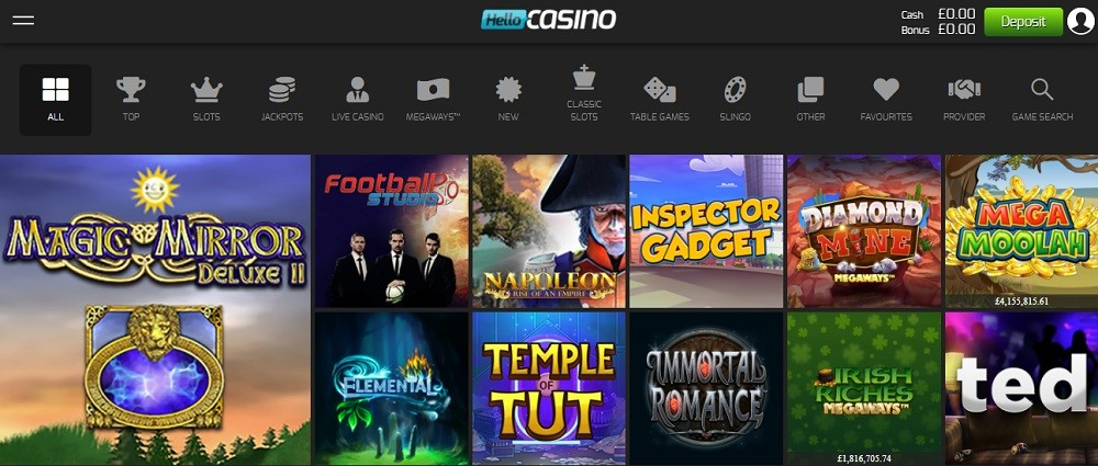 Hello Casino Members Area