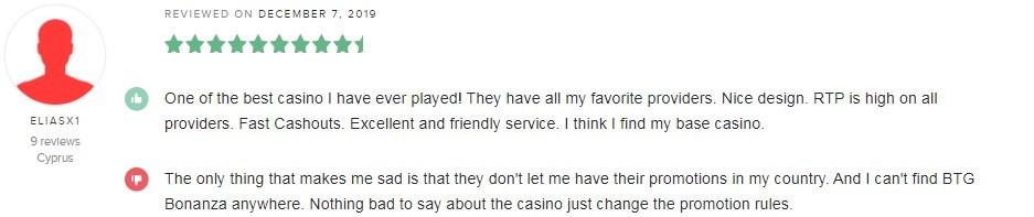 Hello Casino Player Review 4