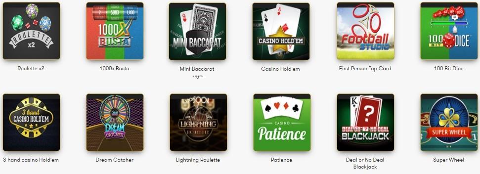 Intercasino Automated Casino Table Games