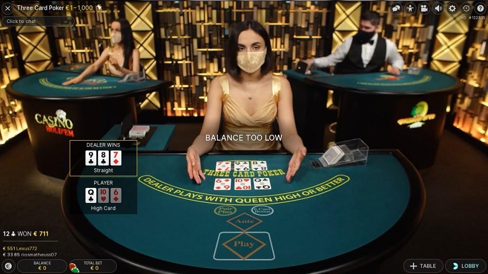 Intercasino Live Poker
