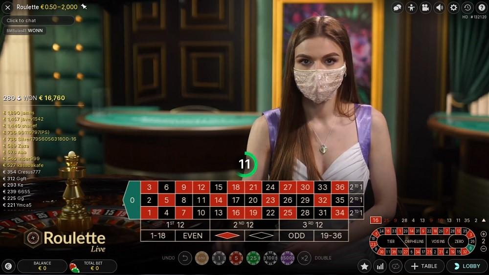 Intercasino Live Roulette