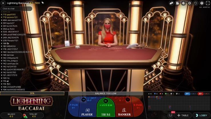 Machance Casino Live Baccarat