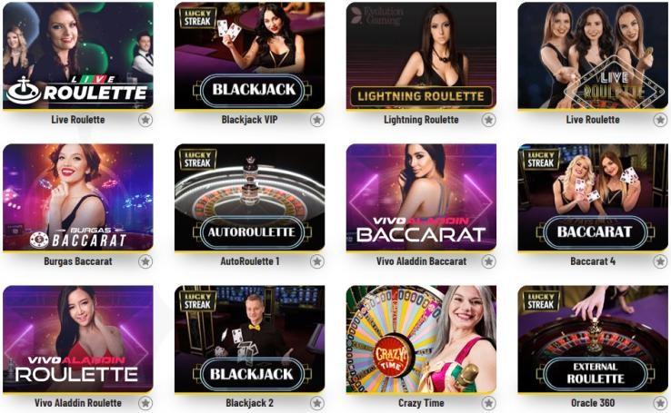 Machance Casino Live Casino Games