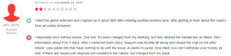 Machance Casino Player Review 2