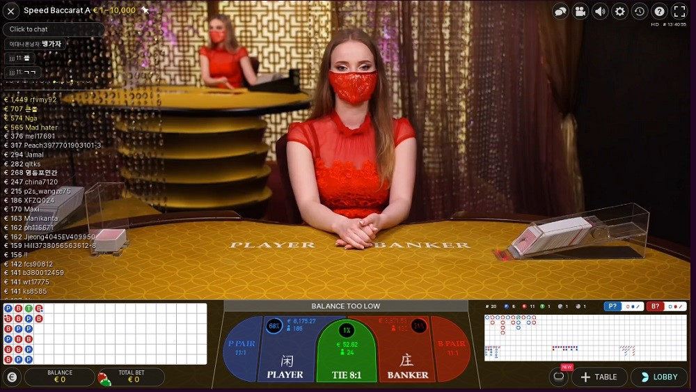 Malina Casino Live Baccarat