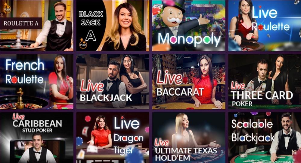 Malina Casino Live Casino Games