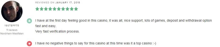Malina Casino Player Review 5