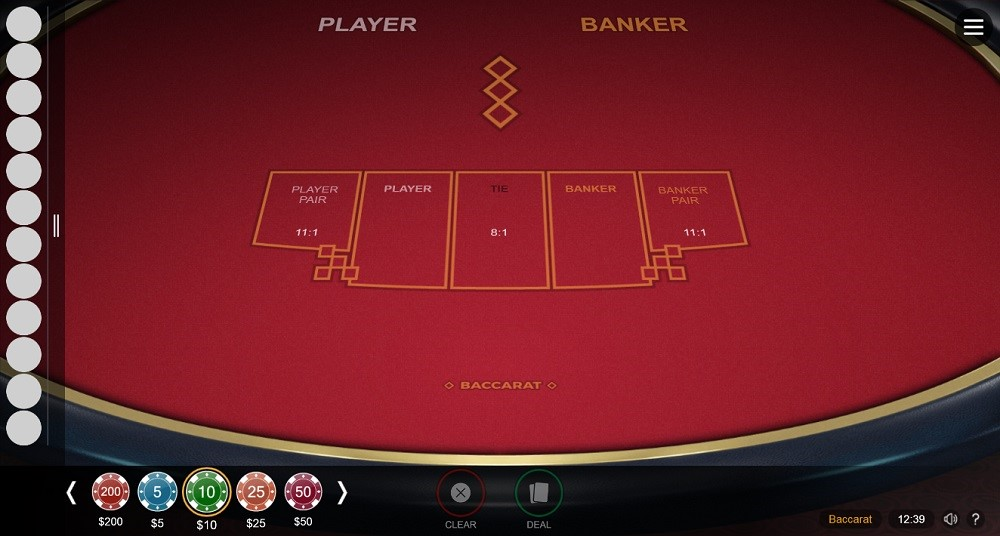 Monster Casino Automated Baccarat