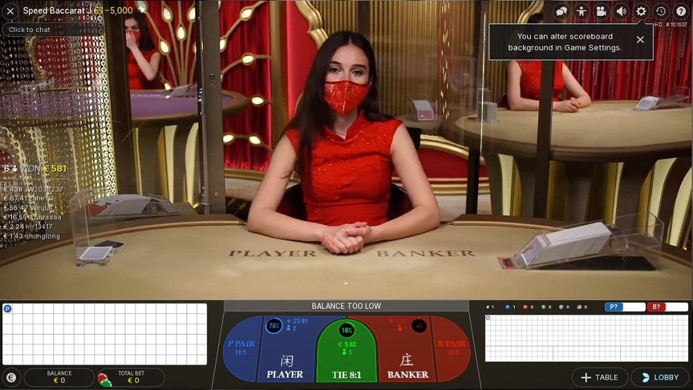 Monster Casino Live Baccarat