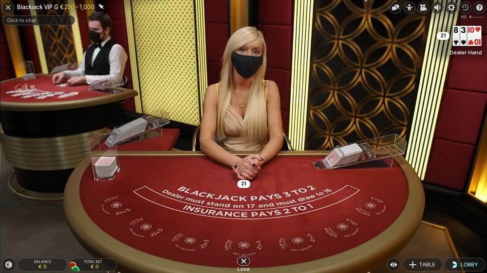 Monster Casino Live Blackjack