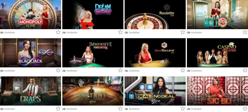 Monster Casino Live Casino Games