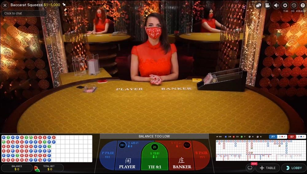 Mummys Gold Casino Live Baccarat