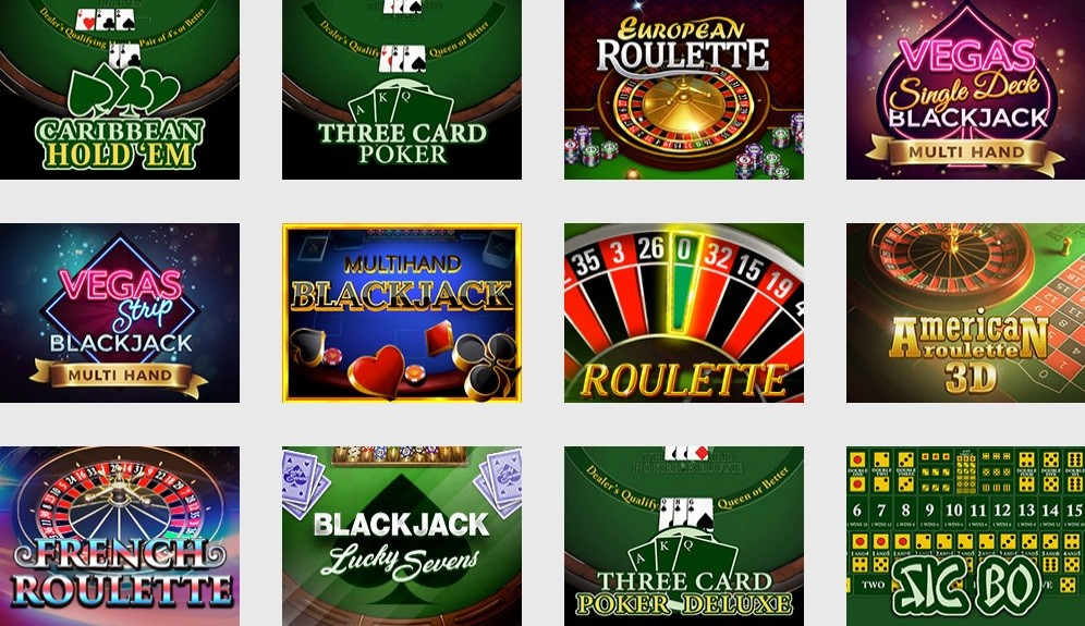 Nordicasino Automated Casino Table Games