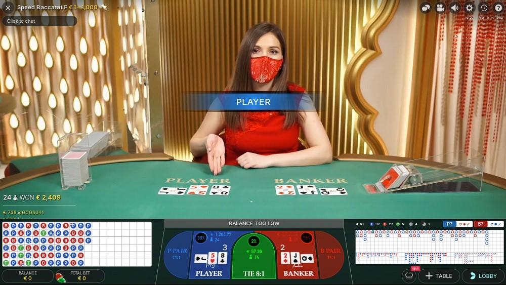 Regent Play Casino Live Baccarat