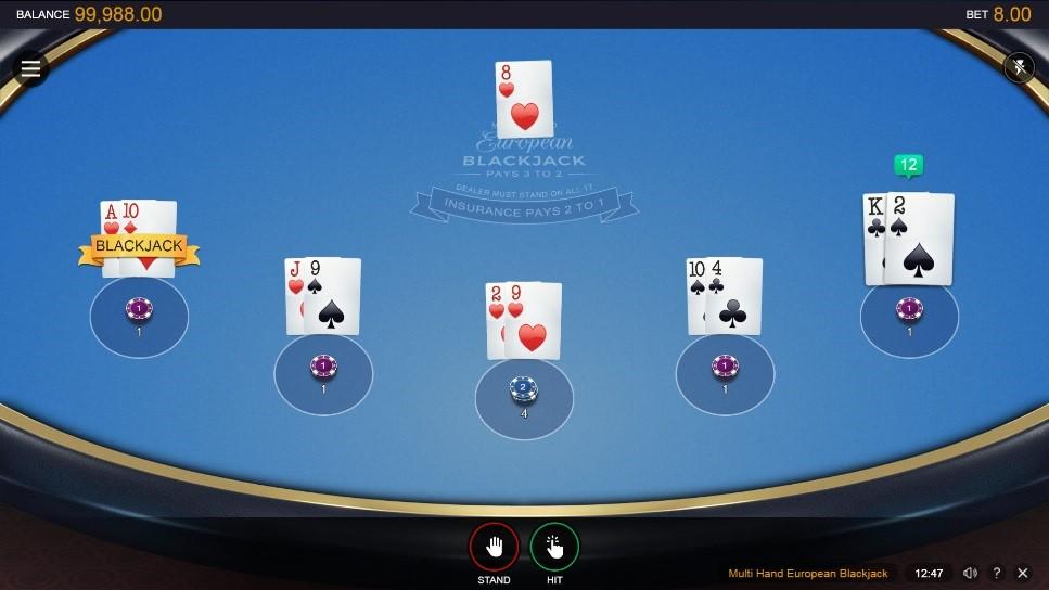 Spinit Casino Automated Blackjack