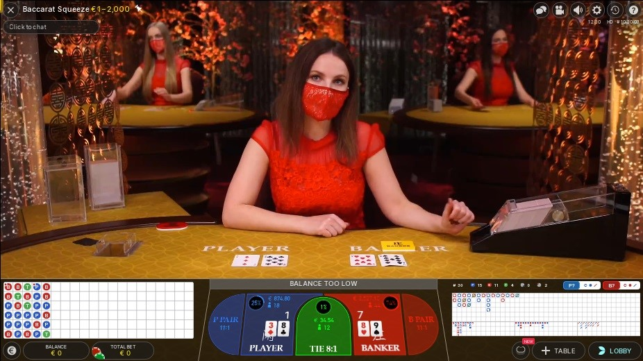 Spinit Casino Live Baccarat