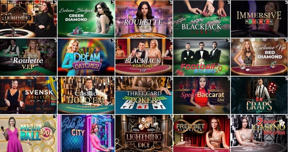 Spinit Casino Live Casino Games