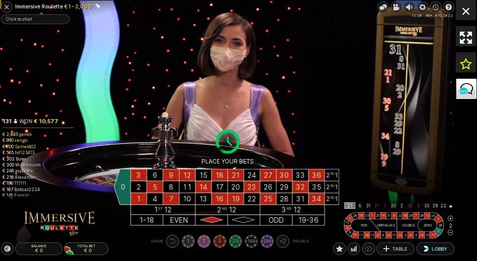 Spinit Casino Live Roulette
