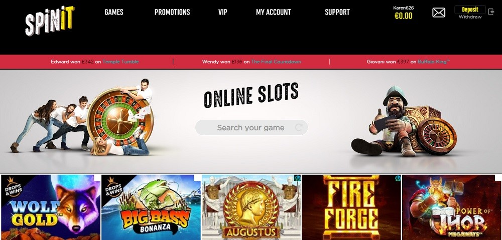 Spinit Casino Members Area