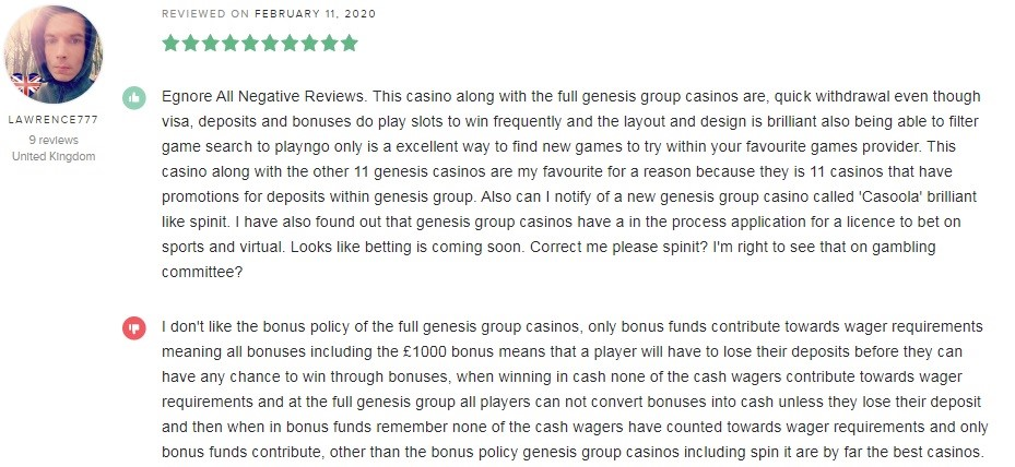 Spinit Casino Player Review 4