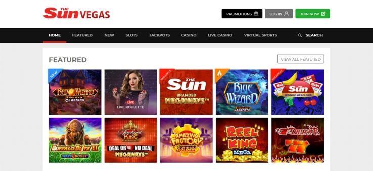 Sun Vegas Casino Members Area