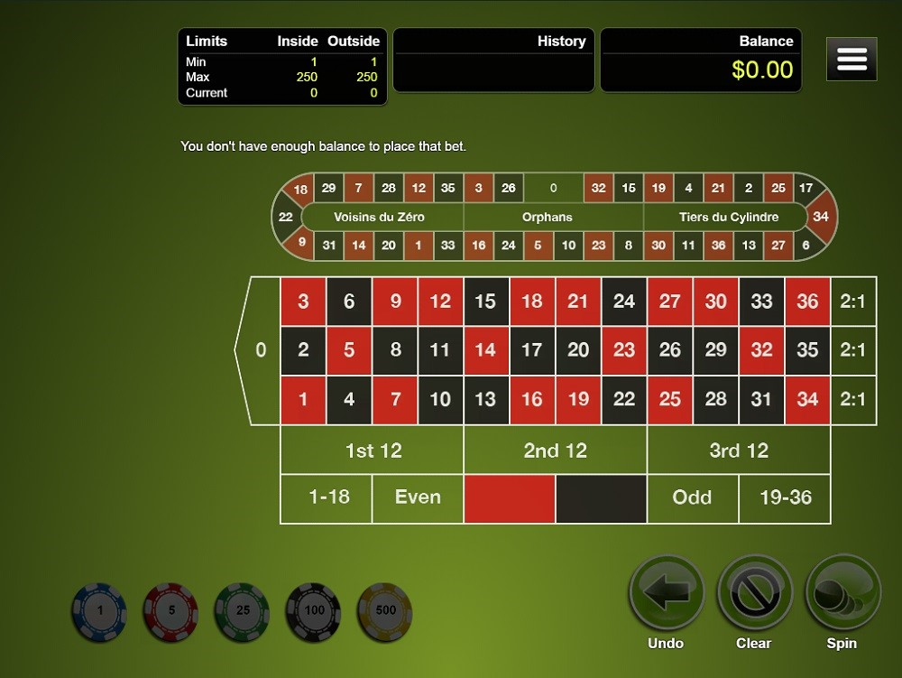 Two Up Casino Automated Roulette