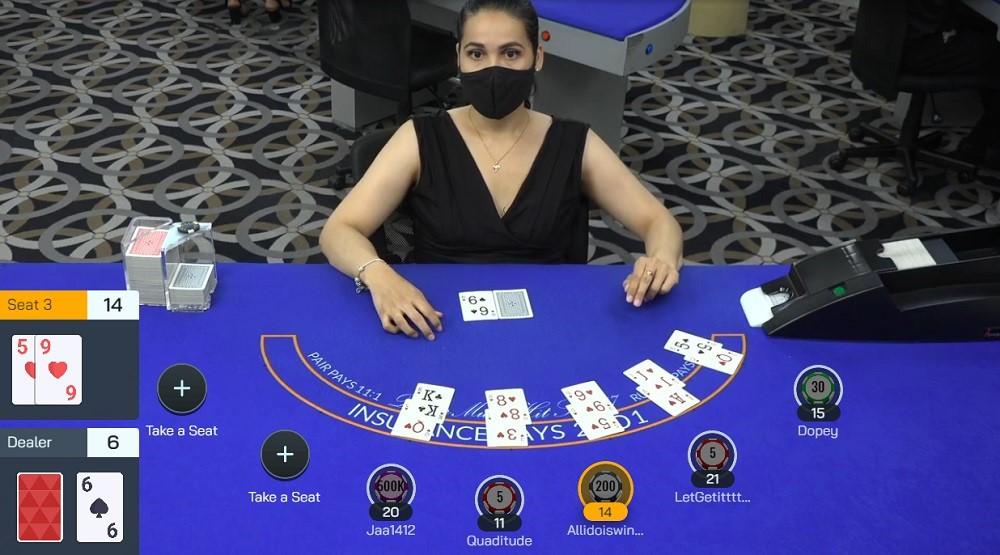 Wild Vegas Casino Live Blackjack