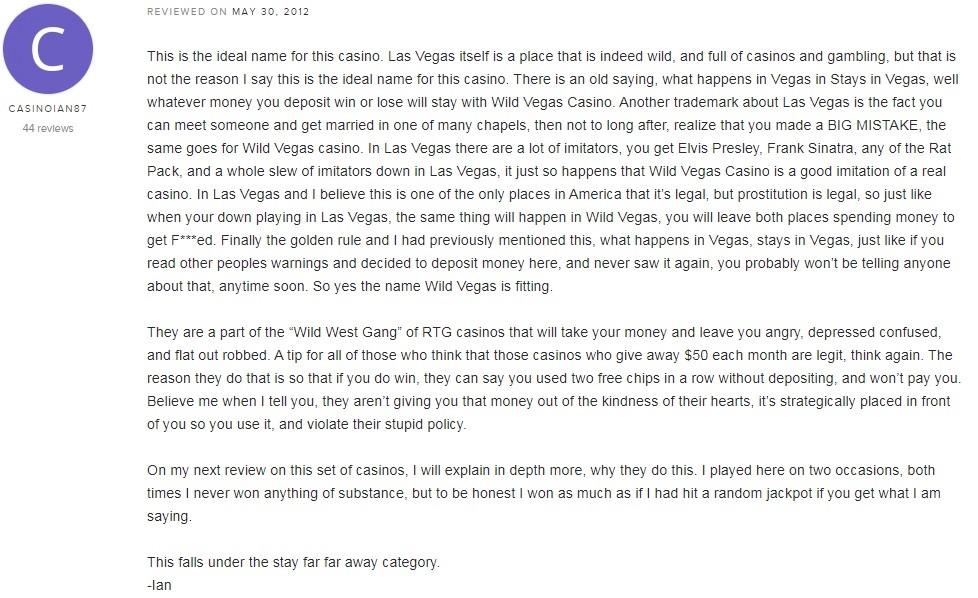 Wild Vegas Casino Player Review 3
